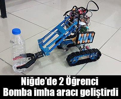 Öğrenciler bomba imha robotu yaptılar