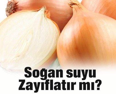 Soğan suyu zayıflatır mı?