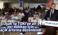 Uşak'ta TOKİ'ye ait 397 dükkan için açık artırma