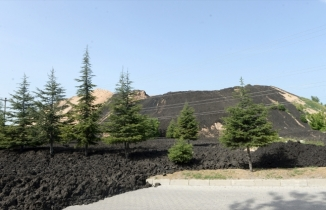 Uşak Karma Deri Organize Sanayi Bölgesi'nde çamur depolama alanında çökme