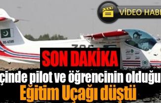 Aydın'dan havalanan uçak Denizli'de düştü