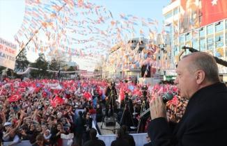 Cumhurbaşkanı Recep Tayyip Erdoğan Uşak mitingi