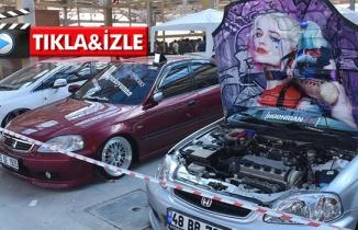 Modifiye araç tutkunları bir araya geldi